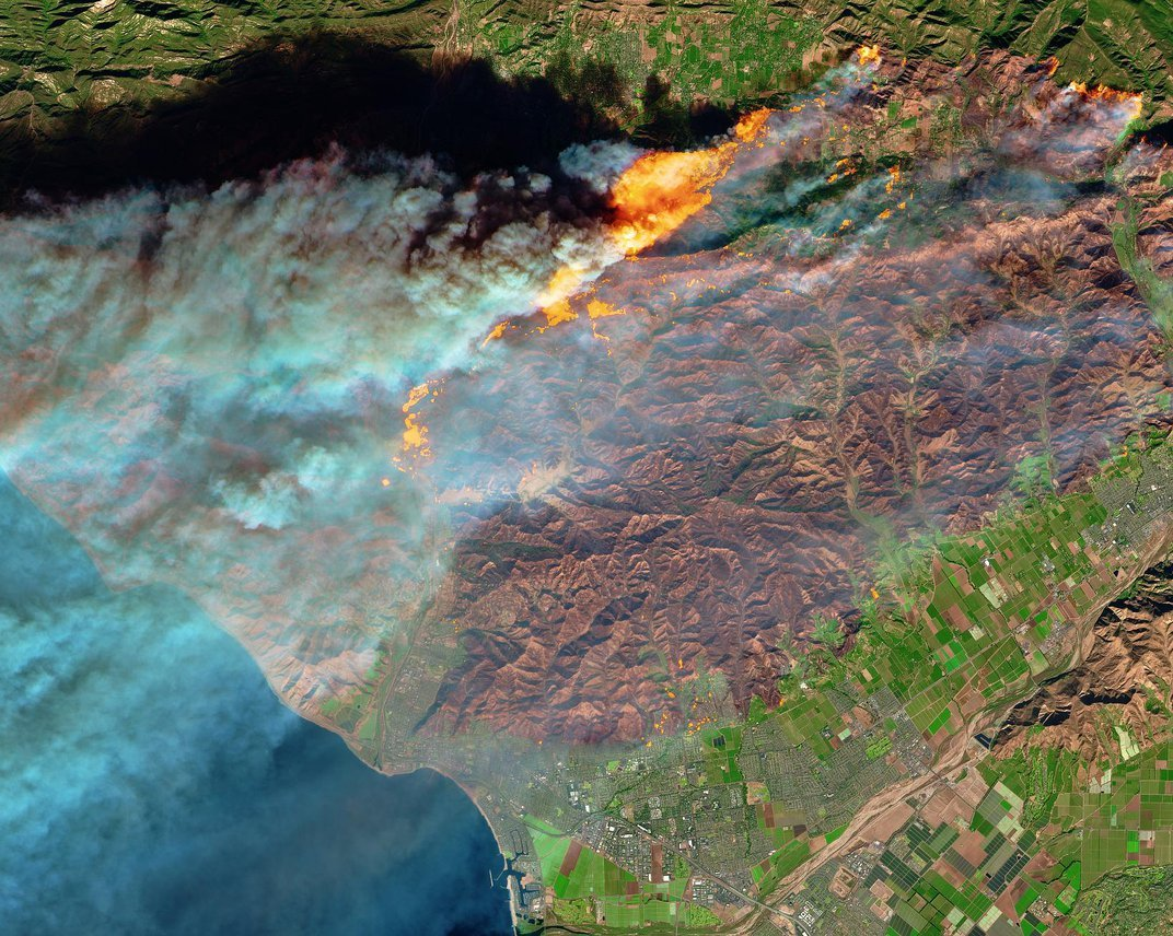 Satellite Images Show Frightening Intensity of California Wildfires