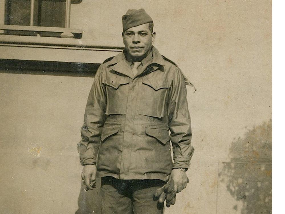 "Woodrow Wilson ""Woody"" Roach. Italy, 1944 or 1945. (Photo courtesy of Della Boyer)"