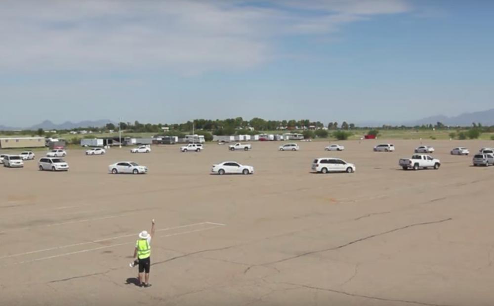 Autonomous car test