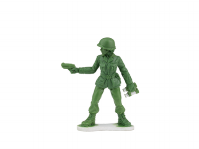 Here is the first sculpted version of the 'plastic army women' collector series.