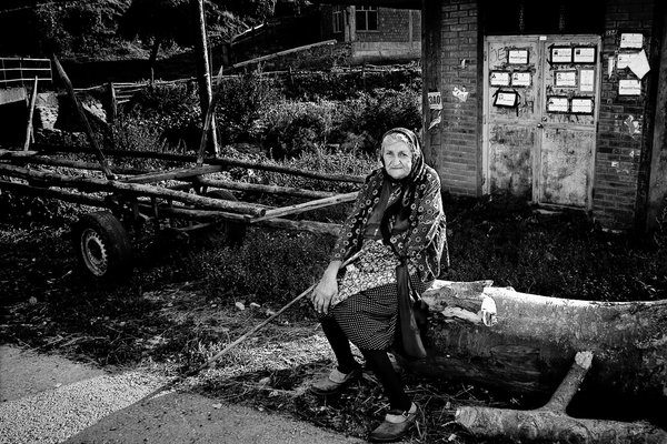 Wife without hand from village Topli Do in Serbia. thumbnail
