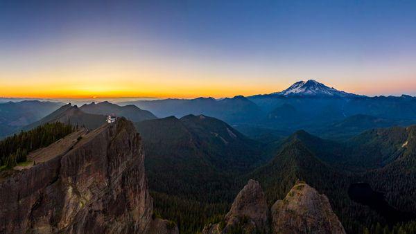 High Rock Sunset Pano thumbnail