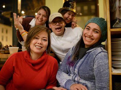 The staff at Thip Khao in Washington, D.C.'s Columbia Heights neighborhood.