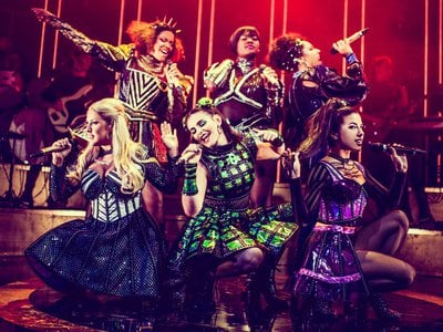 The musical finds the six queens competing for the dubious honor of telling the most tragic tale