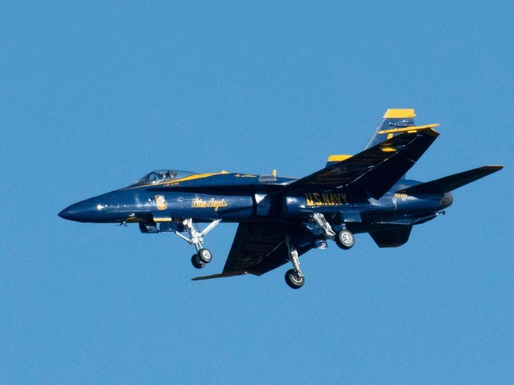 Blue Angels Hornet in flight
