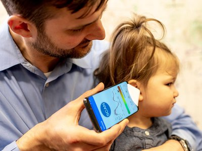 In trials, the app detected the presence of ear fluid with 85 percent accuracy
