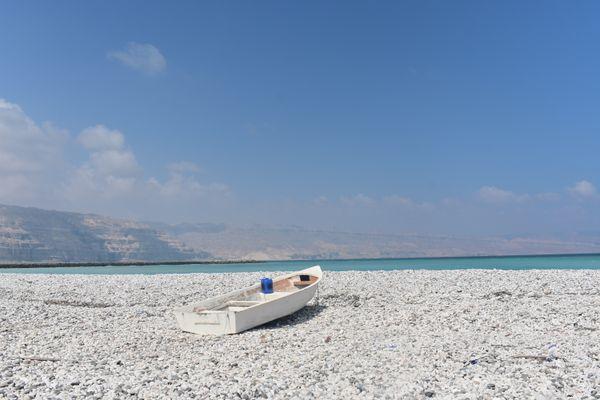 Fishing boat on the beach thumbnail