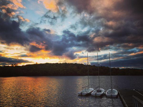Jamaica Pond at sunset thumbnail