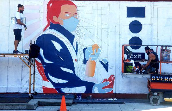 Essential Worker Mural in Harlem thumbnail