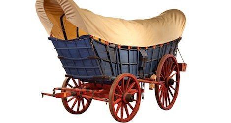 Once the king of the road, the Conestoga Wagon could haul up to five tons of cargo.