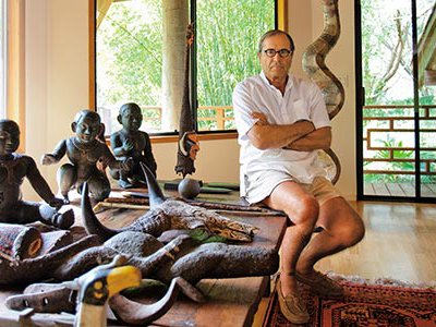 Autobiographies invariably distort, insists author Paul Theroux, at his home in Hawaii.