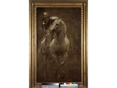 Anthony van Dyck, A Soldier on Horseback, c. 1616