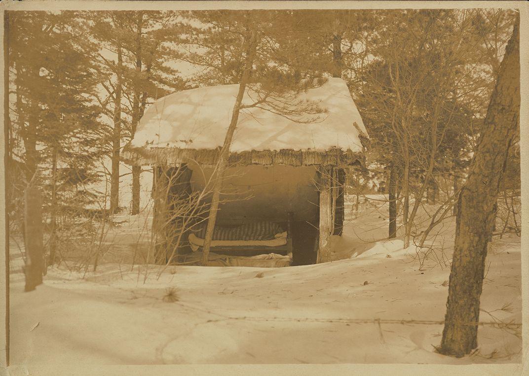 The sleeping hut of Gladys Thayer