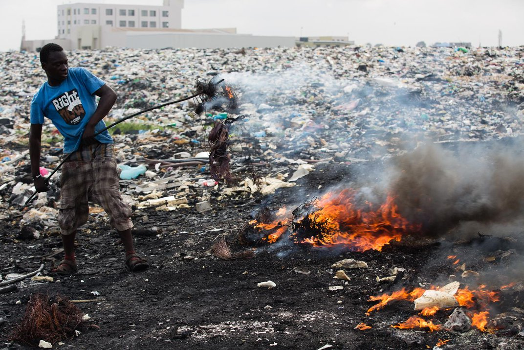 The Burning Truth Behind an E-Waste Dump in Africa