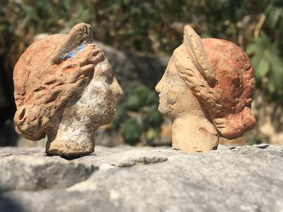 A number of terracotta heads were found separated from the rest of their bodies.