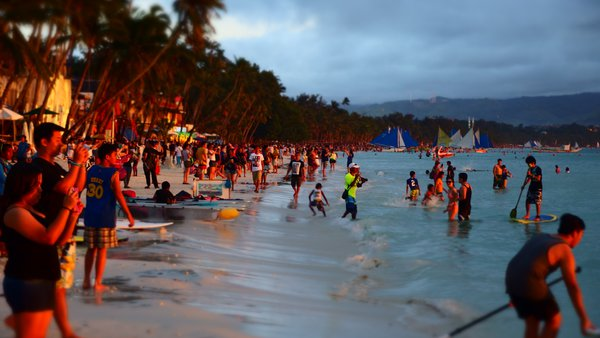 Tourists among the Sunset thumbnail