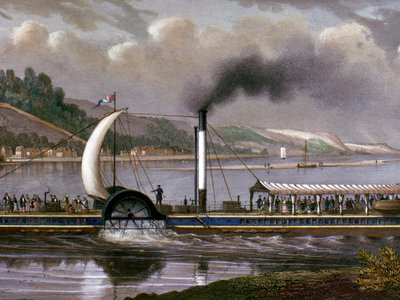 The Clermont traveled the Hudson at an astonishing five miles per hour.