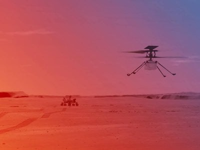 """The Ingenuity helicopter is scheduled to attempt flight this week no later than April 8 after the Mars rover completes its first mission of transporting the small chopper to a flat """"airfield"""" free of obstructions."""