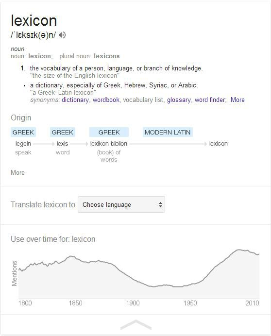 Google Wants to Enable the Amateur Etymologist in All of Us