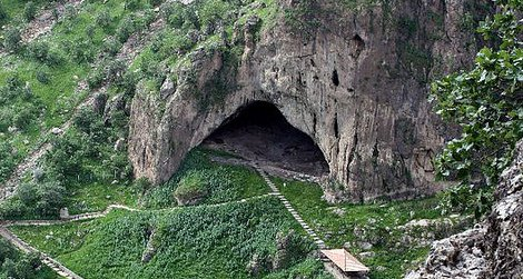 The entrance to Shanidar Cave in northern Iraq