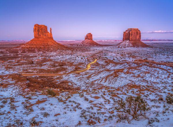 Monument Valley Winter Dusk thumbnail