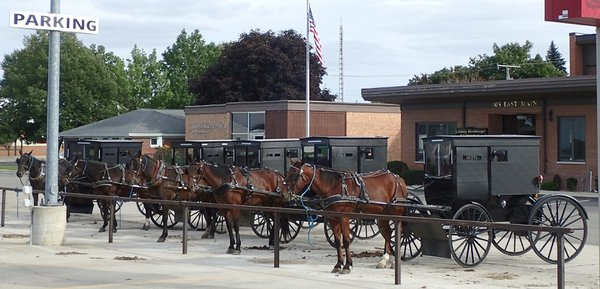 Downtown parking lot, Amish Country thumbnail