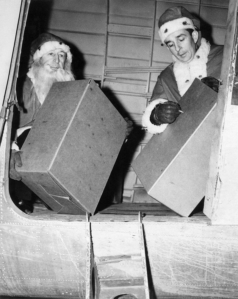 After 90 Years, the 'Flying Santa' Is Still Dropping Gifts From a Plane