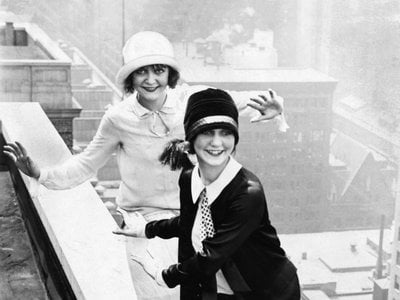 Carefree, reckless, flappers seemed to enjoy living on the edge, like these atop Chicago's Sherman Hotel.