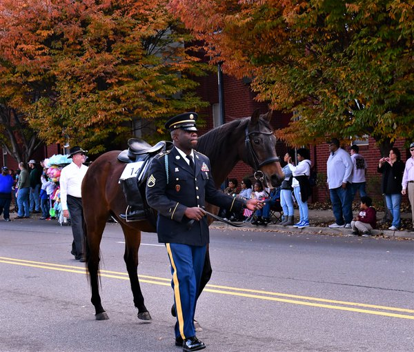Soldier marching in Veteran's Day Parade thumbnail