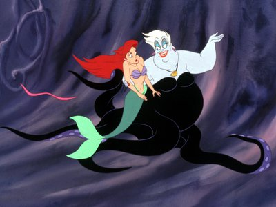 The character of Ursula, a sea witch who gives Ariel her legs, is based on the drag performer Divine.