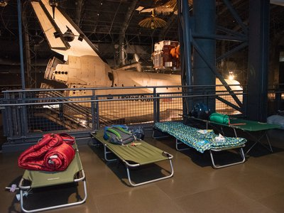 Smithsonian Sleepover at the National Air and Space Museum's Udvar Hazy Center (Smithsonian Associates)