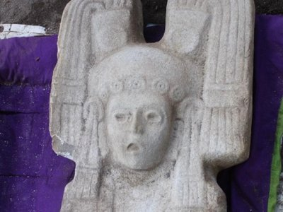 On New Year's Day, farmers in Mexico uncovered a sculpture dated to between roughly 1450 and 1521 A.D.