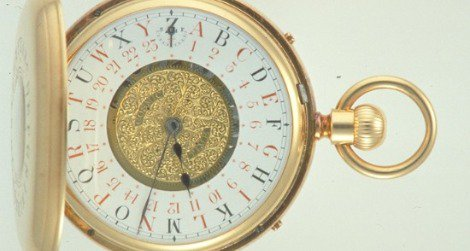 """Fleming's double-sided watch showed the """"Cosmic Time"""""""