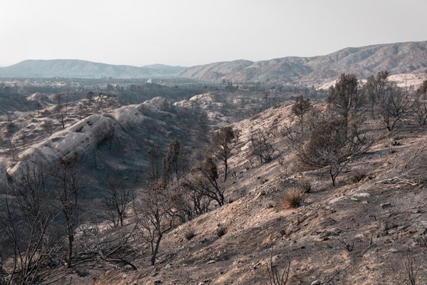 Devil's Punchbowl during Bobcat fire thumbnail
