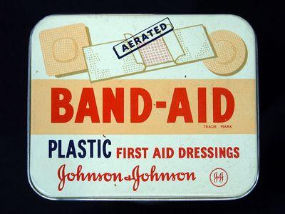 A mid-century Band-Aid tin.