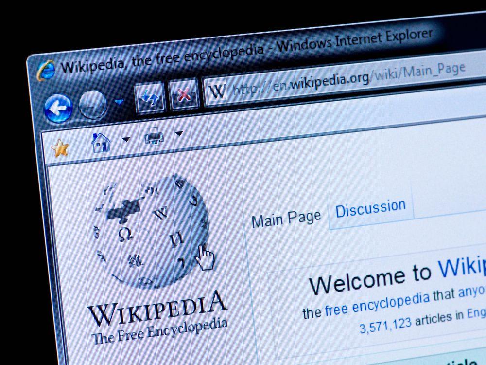 Wikipedia stock image