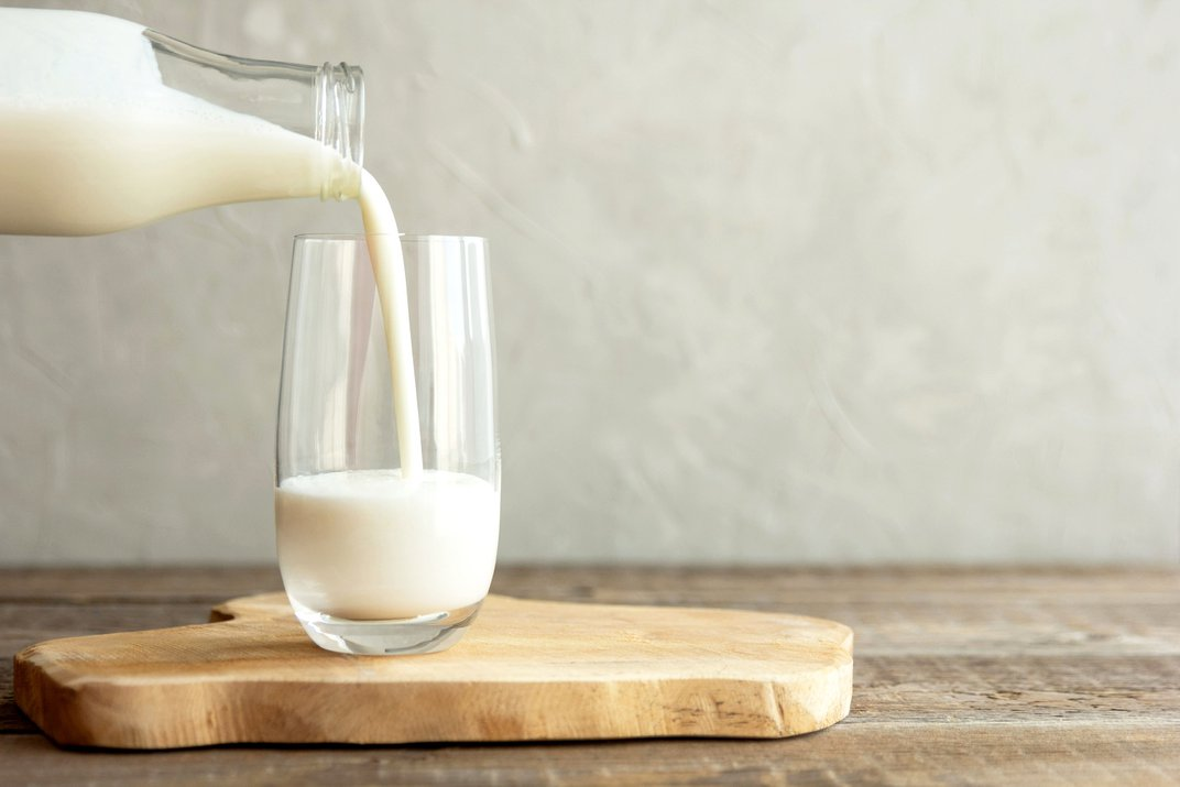 Image of a glass of milk