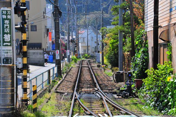 View of Enoshima Electric Railway tracks thumbnail