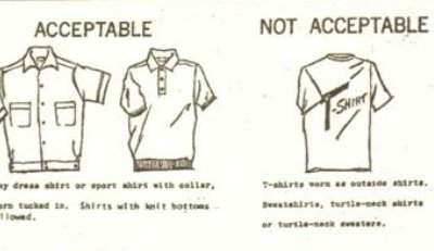 Dress code illustration, 1960s