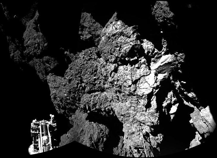 Philae lander on 67P