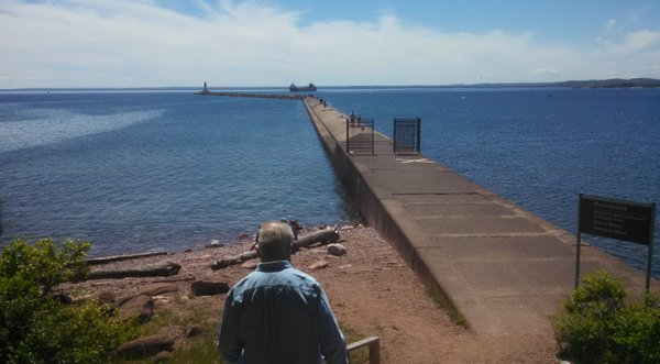 Man Approaching Breakwater thumbnail