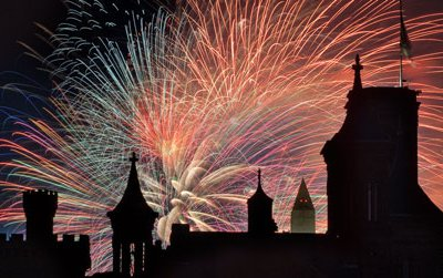 East face of the Smithsonian Castle on July 4, 2010