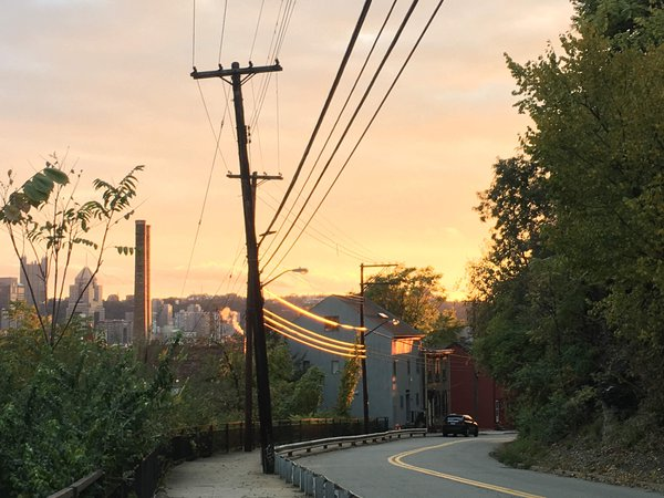 Sunset on the Wires of Troy Hill thumbnail