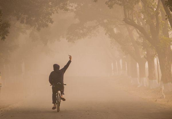 taking selfie when cycling thumbnail