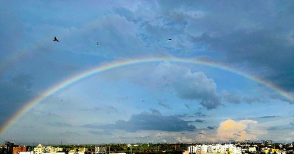 Dual Rainbow in my Balcony thumbnail