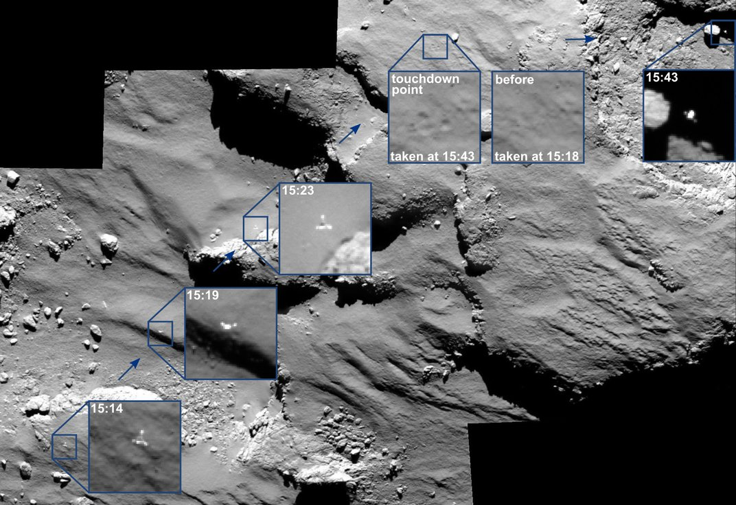 Watch the Philae Lander's Bouncing Touch Down on Comet 67P