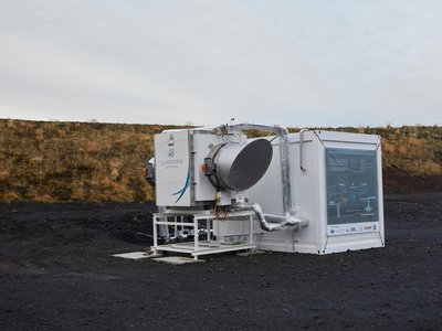 The Climeworks device in Iceland that can filter carbon dioxide from ambient air and send it underground