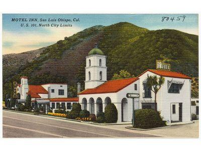 A postcard of the Motel Inn, circa 1940s.