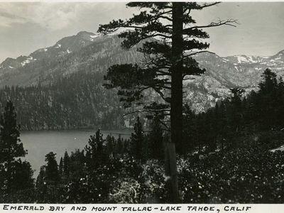 Emerald Bay and Mount Tallac, Lake Tahoe, 1935.