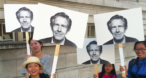 John Cage fans celebrate the composer at the 2012 BBC Proms music festival.